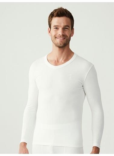 U.S. Polo Assn. Termal Erkek Uzun Kol T-Shirt Beyaz